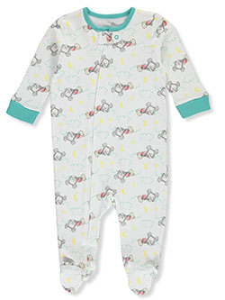 Mickey Mouse Baby Boys' Footed Coverall by Disney in White
