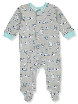 Snoopy Baby Boys' Footed Coverall by Peanuts in Heather gray