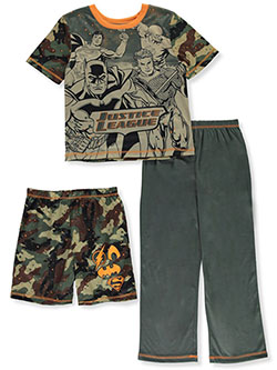 Boys' 3-Piece Pajama Set by Justice League in Green