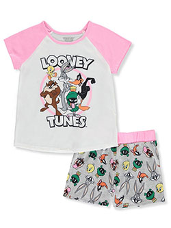 Girls' 2-Piece Pajama Set by Looney Tunes in Multi