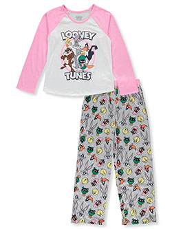 Girls' Raglan 2-Piece Pajamas by Looney Tunes in Multi