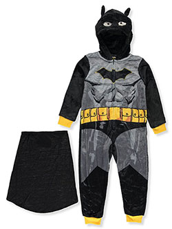 Bat Suit 1-Piece Pajama Suit with Cape by Batman in Multi - Boys Fashion
