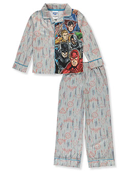 Boys' Shield Medley 2-Piece Pajamas by Justice League in Multi, Boys Fashion