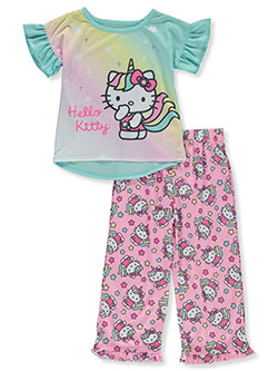 Girls' Unicorn 2-Piece Pajamas by Hello Kitty in Aqua/multi