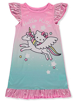 Girls' Unicorn Nightgown by Hello Kitty in Pink/multi