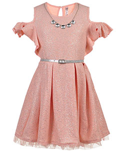 Beautees Big Girls' Cold Shoulder Dress with Accessories (Sizes 7 – 16) - CookiesKids.com