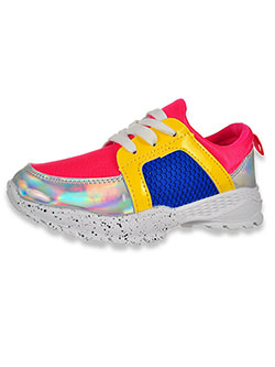 Girls' Patent-Trimmed Sneakers by Krazy Kicks in Pink