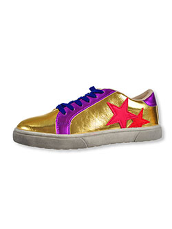 Girls' Aria Sneakers by Krazy Kicks in gold and silver