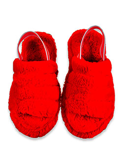 Girls' Plush Slippers by Krazy Kicks in Red