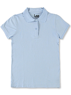 "Uniforms ""Standard Fit"" S/S Pique Polo by Lee in black, blue, white and more"