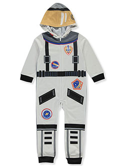 Boys' Astronaut Hooded Pajama Suit by Sleepimini in Gray