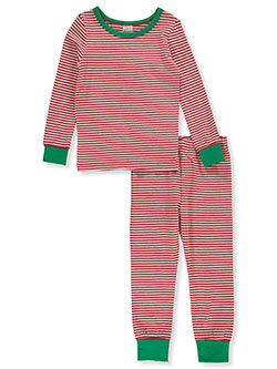 Toddler Cotton Holiday Theme 2-Piece Pajama Set by Sleepimini in Red