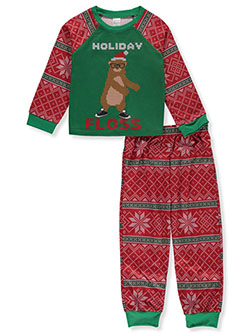 Boys' Holiday Floss 2-Piece Pajamas by Lee in Green