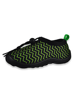Boys' Zigzag Water Swim Shoes by Aquakiks in Green