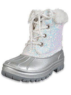 Girls' Glitter Duck Boots by London Fog in White