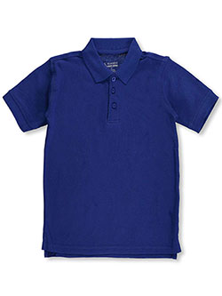 Men's Pique Polo by Classic School Uniform in royal blue and yellow