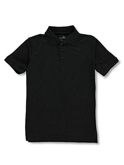 Boys' S/S Pique Polo by Classic School Uniform in black, blue, red and white