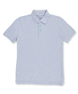 Big Boys' S/S Pique Polo by Classic School Uniform in Blue