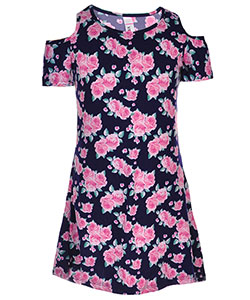 Pink Velvet Little Girls' Cold Shoulder Dress (Sizes 4 – 6X) - CookiesKids.com