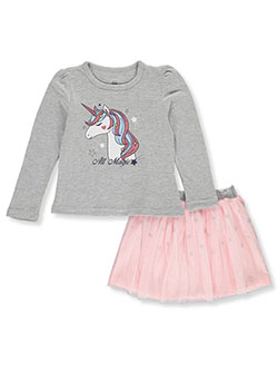 Unicorn 2-Piece Skirt Set Outfit by Pink Velvet in Gray