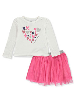 Girls' Love 2-Piece Skirt Set Outfit by Pink Velvet in White/multi