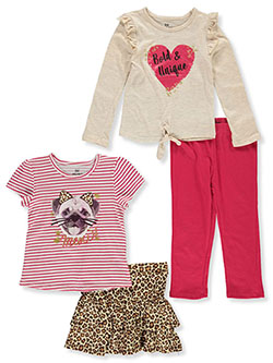 Girls' Meow 4-Piece Outfit Set by Pink Velvet in Multi