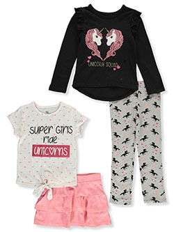 Unicorn Squad 4-Piece Outfit Set by Pink Velvet in Multi