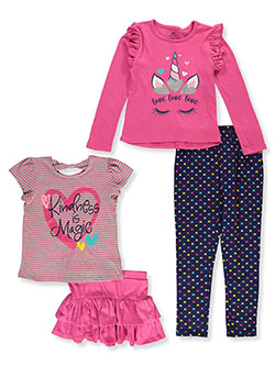 Kindness Is Magic 4-Piece Outfit Set by Pink Velvet in Multi, Girls Fashion