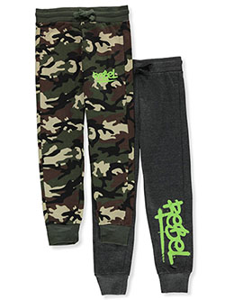 Boys' Rebel 2-Pack Joggers by Prime Threads in Green