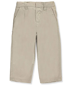 Little Boys' Pleated Twill Pants by Genuine in Khaki