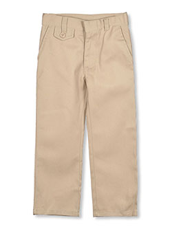 Straight Leg Flat Front Pants by Genuine in Khaki, Sizes 2-6X