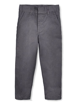 Little Boys' Flat Front Twill Pants by Genuine in gray and khaki, Sizes 2T-4T & 4-7