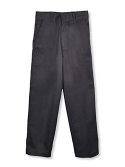 Big Boys' Flat Front Twill Pants by Genuine in black, gray and navy, Sizes 8-20