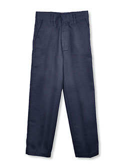 Big Boys' Flat Front Twill Pants by Genuine in black, gray, khaki and navy