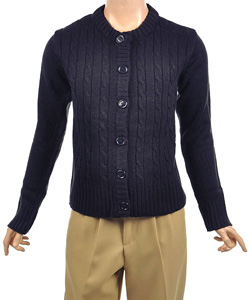 "U.S. Polo Assn. ""Classic Cable"" Cardigan Sweater (Sizes 4 – 6X) - CookiesKids.com"
