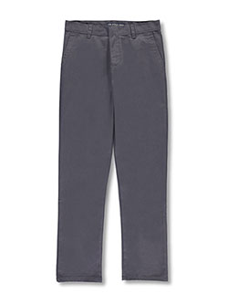 Big Boys' Flat Front Pants by U.S. Polo Assn. in Gray