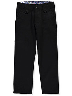 Girls' Skinny Flat Front Pants by Genuine in Black, Sizes 2-6X