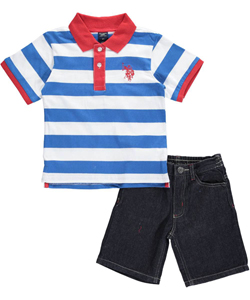 "U.S. Polo Assn. Little Boys' Toddler ""Spencer"" 2-Piece Outfit (Sizes 2T – 4T) - CookiesKids.com"