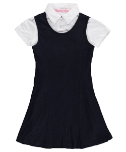 "U.S. Polo Assn. Little Girls' ""Soft Layer"" Jumper (Sizes 4 – 6X) - CookiesKids.com"
