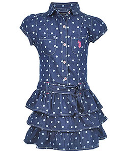"U.S. Polo Assn. Little Girls' ""Dottie"" Dress (Sizes 4 – 6X) - CookiesKids.com"