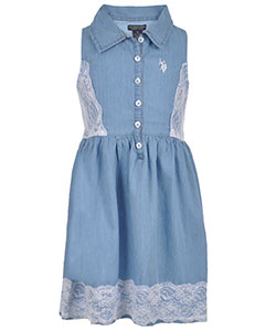 "U.S. Polo Assn. Big Girls' ""Sweet Meadow"" Dress (Sizes 7 – 16) - CookiesKids.com"