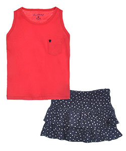 "Sweet Vintage Little Girls' Toddler ""Starry Sky"" 2-Piece Outfit (Sizes 2T – 4T) - CookiesKids.com"