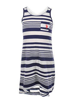 "U.S. Polo Assn. Little Girls' ""Top Knot"" Dress (Sizes 4 – 6X) - CookiesKids.com"
