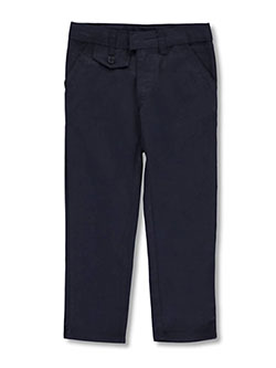 Straight Leg Flat Front Pants by Genuine in Navy, School Uniforms
