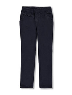 Girls' Flat Front Uniform Pants by Genuine in Navy