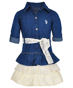 U.S. Polo Assn. Little Girls' Dress (Sizes 4 – 6X) - CookiesKids.com