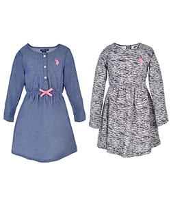 U.S. Polo Assn. Little Girls' 2-Pack Dresses (Sizes 4 – 6X) - CookiesKids.com