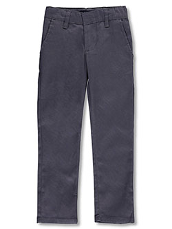 Flat Front Stretch Twill Pants by U.S. Polo Assn. in gray and khaki