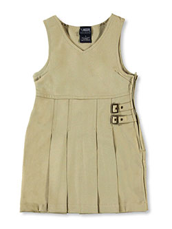 French Toast Little Girls' Double Buckle Tab Jumper (Sizes 4 - 6X) - CookiesKids.com