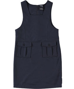 "Big Girls' ""Bellows Pocket"" Jumper by French Toast in Navy"